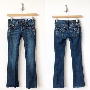 Miss Me Jeans Boot Dark Blue Rhinestone-26